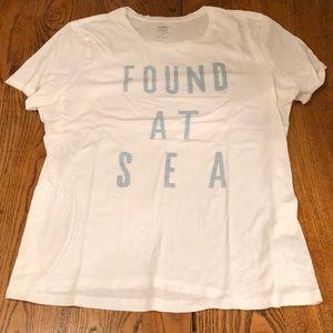 """White tshirt. """"Found at Sea"""""""